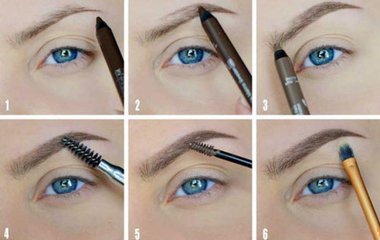 Брови как правильно нарисовать брови карандашом поэтапно