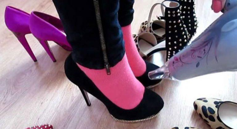 Как разносить туфли из замши в домашних условиях быстро и