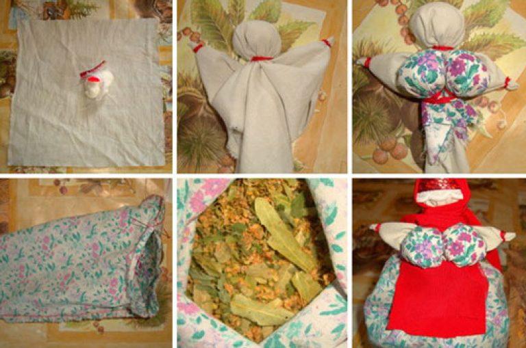 Народные куколки из ткани своими руками без шитья 27