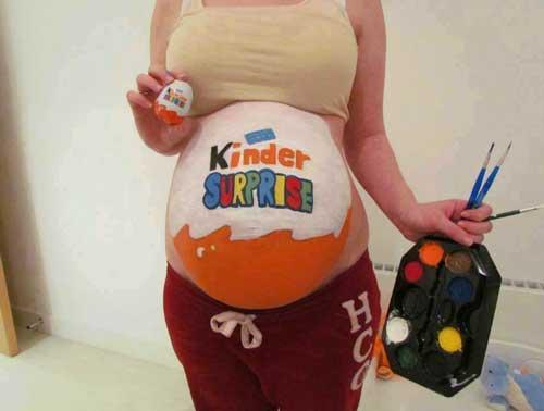 рисунки на животе у беременных в домашних условиях фото