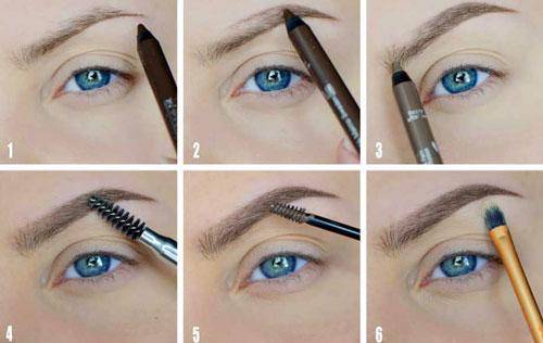 Как нарисовать правильно брови карандашом поэтапно фото макияж