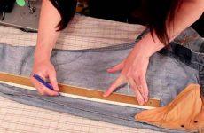 Как правильно ушить джинсы на размер меньше в талии по боковым швам: способы