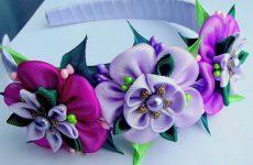 Ободок с цветами для волос: своими руками