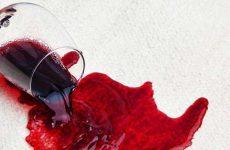 Как отстирать пятно от красного вина?