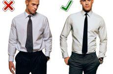Правильно по цвету подбираем галстук к рубашке с длинным и коротким рукавом