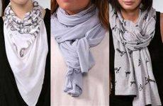 Как красиво завязывать шарф на голову разными способами?
