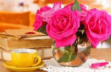 Как продлить жизнь розам в вазе подольше?
