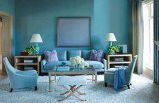 Сочетание цветов с голубым цветом в одежде и интерьере