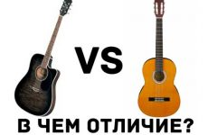 Чем отличается акустическая гитара от классической?