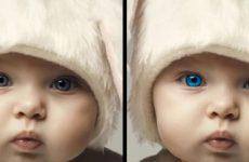Как поменять цвет глаз в фотошопе?